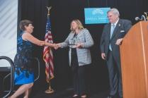 Deborah Coleman accepting her 2018 Pro Bono Publico Award